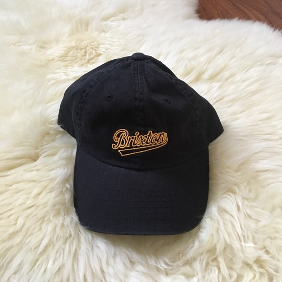 c1123f34eac52 NWT Brixton Waverly Black Embroidered Logo Dad hat